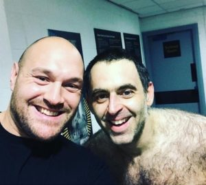 Tyson Fury adds Ronnie O'Sullivan to his support team