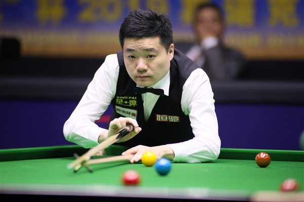Former champion Ding Junhui in action (credit:ImagineChina/SIPA USA/PA Images)