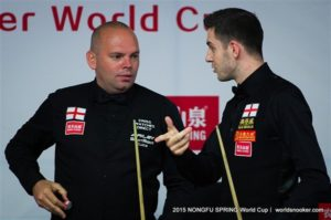 Bingham turns on the style to see off Selby (credit:World Snooker)