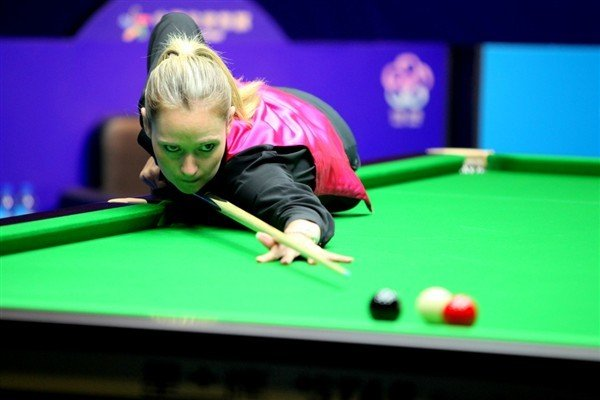 12-time World Champion Evans in action (credit:World Snooker)
