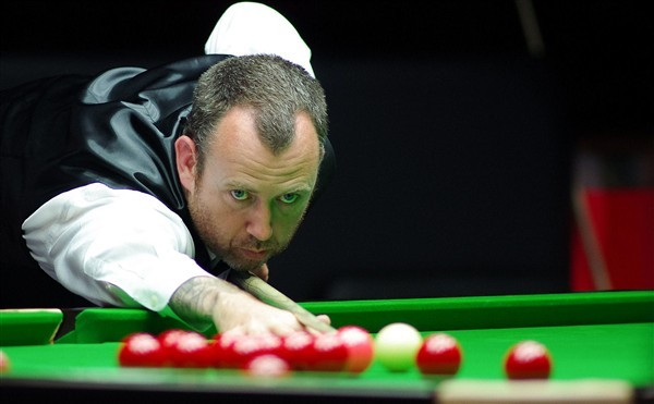 Welsh legend Mark Williams in action (credit:World Snooker)