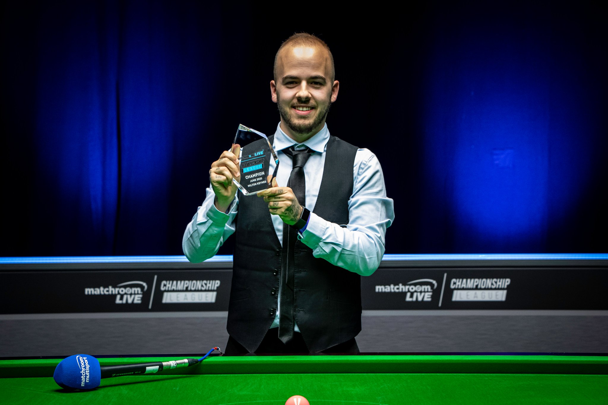 Brilliant Luca Brecel claims Championship League glory