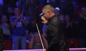 Stephen Hendry bows out of German Masters as Trump and Wilson progress